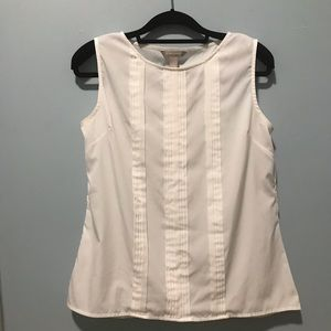 Banana Republic pleated sleeveless shell